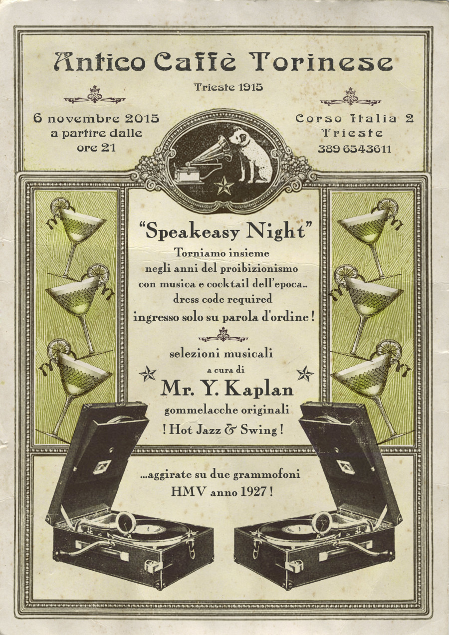 Speakeasy Night<br>6 Novembre<br>dalle ore 21:00